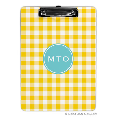 Classic Check Sunflower Clipboard