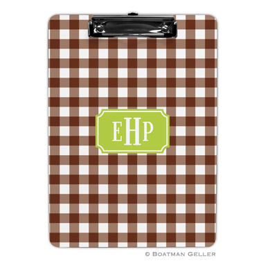 Classic Check Chocolate Clipboard by Boatman Geller
