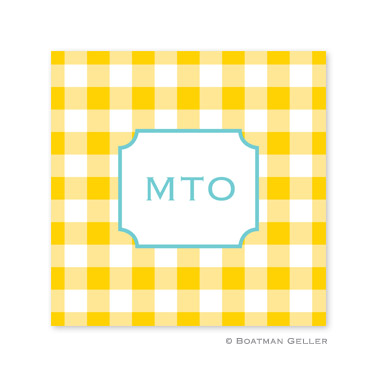Classic Check Sunflower Coasters