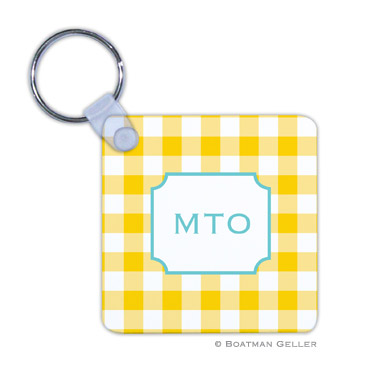 Classic Check Sunflower Key Chain
