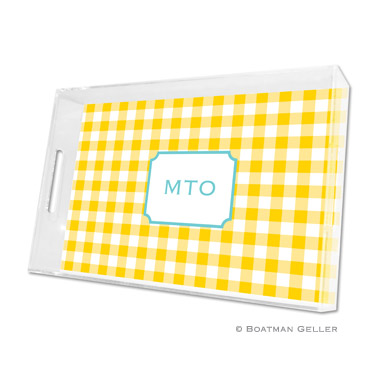 Classic Check Sunflower Large Tray