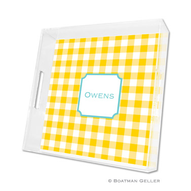 Classic Check Sunflower Square Tray
