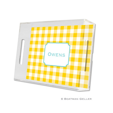 Classic Check Sunflower Small Tray