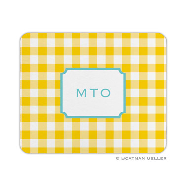 Classic Check Sunflower Mouse Pad