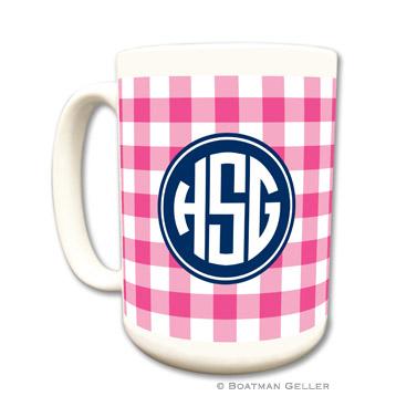 Classic Check Raspberry Mug