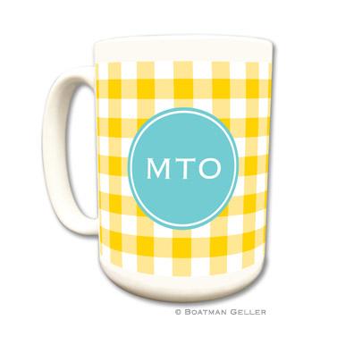 Classic Check Sunflower Mug