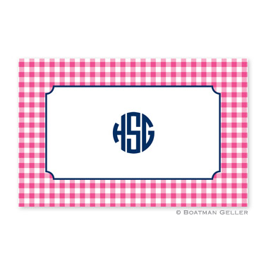 Classic Check Raspberry Personalized Placemat