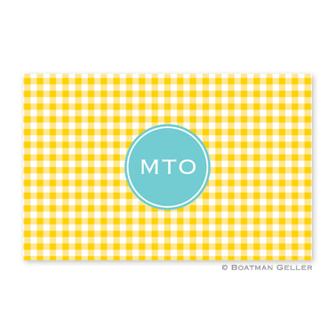 Classic Check Sunflower Placemat Personalized