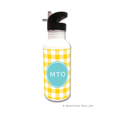 Classic Check Sunflower Water Bottle