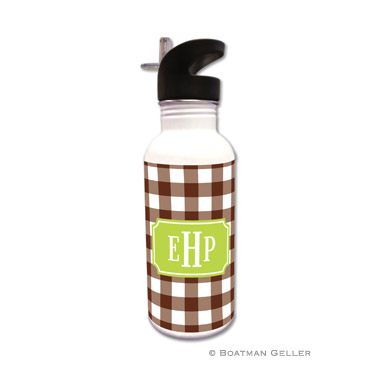 Classic Check Chocolate Water Bottle