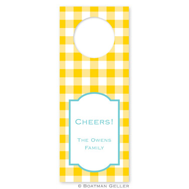 Classic Check Sunflower Wine Tag