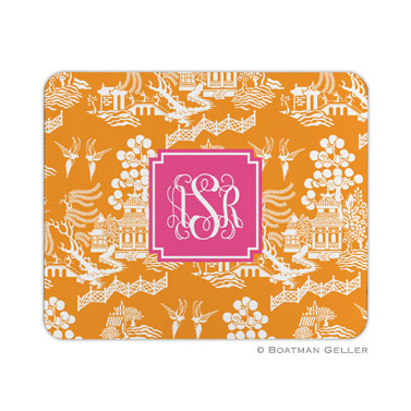Chinoiserie Tangerine Mouse Pad