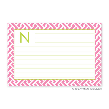 Stella Pink Personalized Recipe Cards