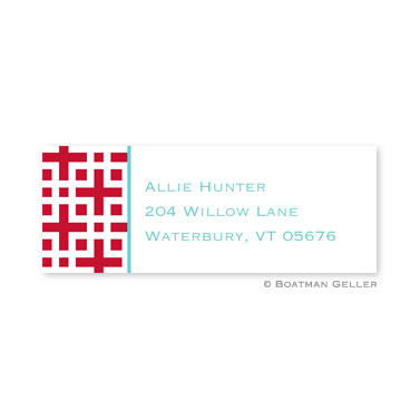 Lattice Cherry Address Label