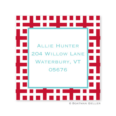 Lattice Cherry Square Sticker
