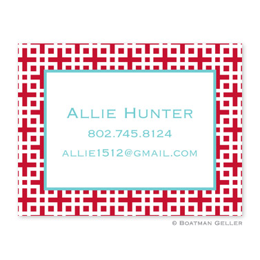 Lattice Cherry Calling Card
