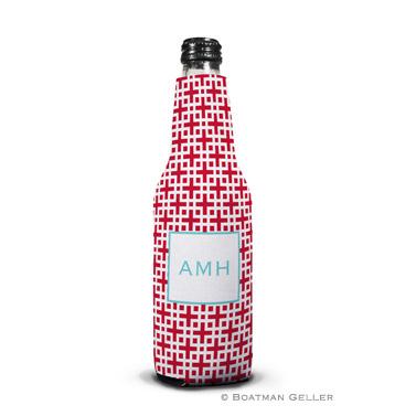 Lattice Cherry Bottle Koozie