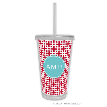 Lattice Cherry Beverage Tumbler