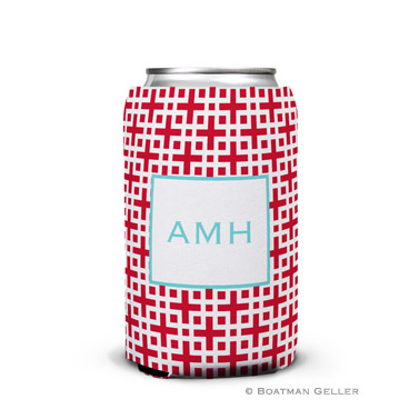 Lattice Cherry Can Koozie
