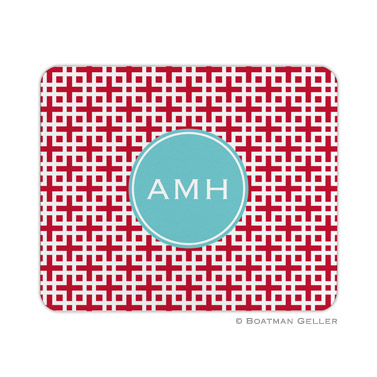 Lattice Cherry Mouse Pad