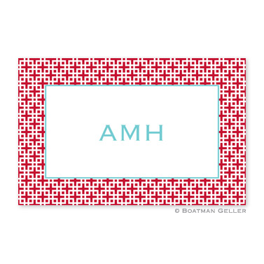 Lattice Cherry Personalized Placemat