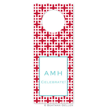 Lattice Cherry Wine Tag