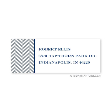 Herringbone Gray Address Label