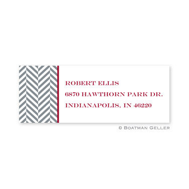Herringbone Holiday Address Label