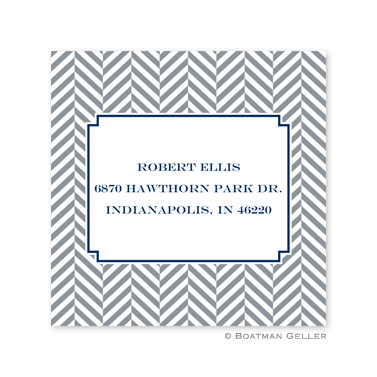 Herringbone Gray Square Sticker