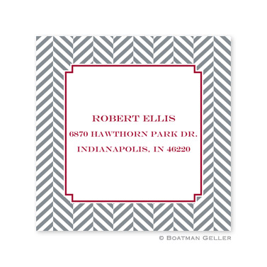 Herringbone Holiday Square Sticker