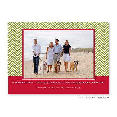 Herringbone Flat Holiday Photocard