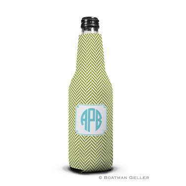 Herringbone Jungle Bottle Koozie