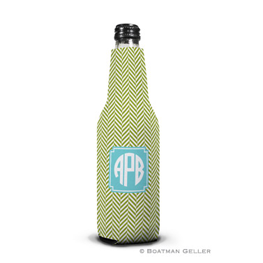 Herringbone Jungle Bottle Koozie by Boatman Geller