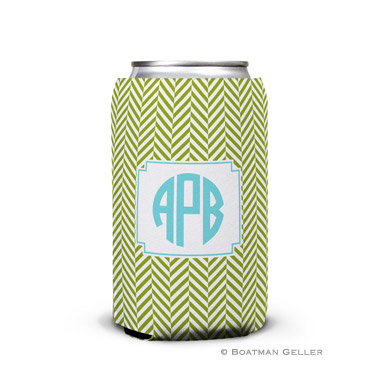 Herringbone Jungle Can Koozie