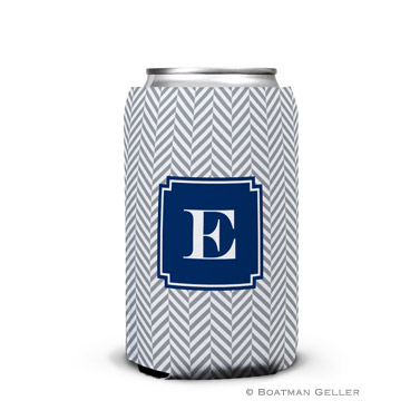 Herringbone Gray Can Koozie