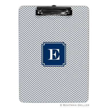 Herringbone Gray Clipboard