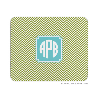 Herringbone Jungle Mouse Pad