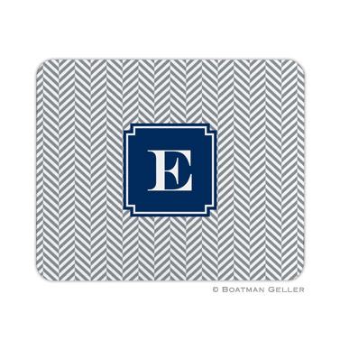 Herringbone Gray Mouse Pad