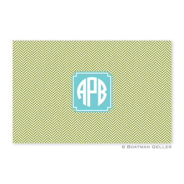 Herringbone Jungle Personalized Placemat