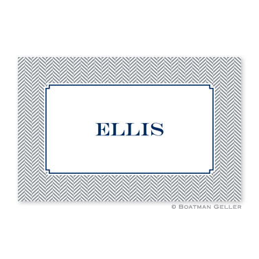 Herringbone Gray Personalized Placemat