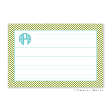 Herringbone Jungle Personalized Recipe Cards