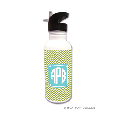 Herringbone Jungle Water Bottle