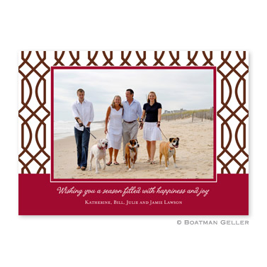 Trellis Flat Holiday Photocard