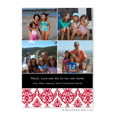 Madison Damask Reverse Flat Holiday Photocard