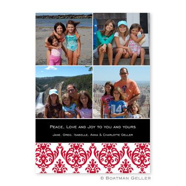 Madison Damask Reverse Flat Holiday Photocard
