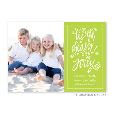 Tis the Season Lime Flat Holiday Photocard