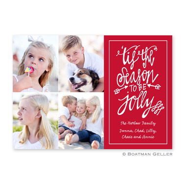 Tis the Season Cherry Flat Holiday Photocard