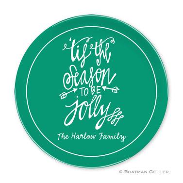 Tis the Season Holiday Plate