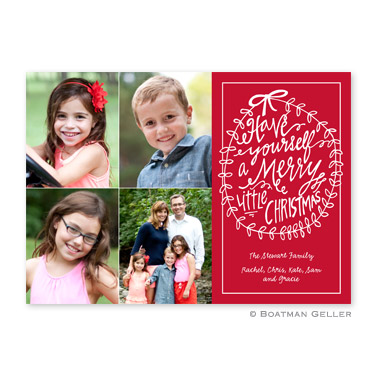 Merry Little Christmas Cherry Flat Holiday Photocard