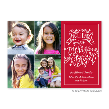 Merry & Bright Cherry Flat Holiday Photocard